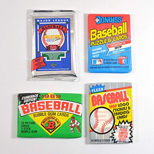 - 1989 Baseball Pack Lot Fleer Upper Deck Donruss Bowman Possible Ken Griffey Jr.