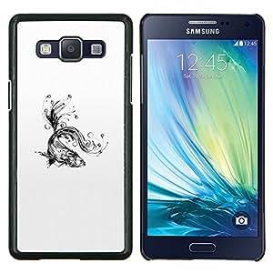 Eason Shop / Premium SLIM PC / Aliminium Casa Carcasa Funda Case Bandera Cover - Water Splashes Black White Art - For Samsung Galaxy A5 ( A5000 ) 2014 Version
