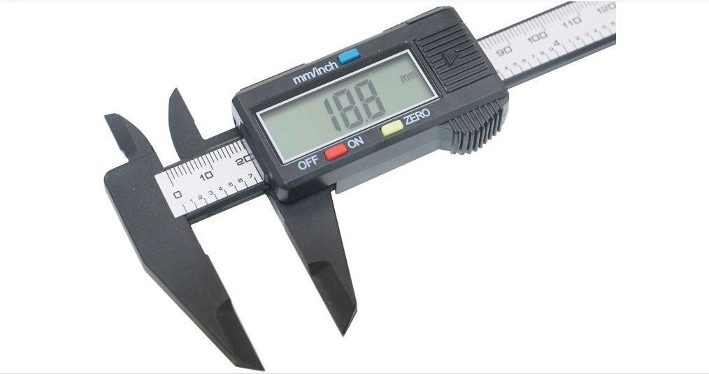 Firstal Pure Plastic Fiber Material Electronic Display Caliper Measurement Range 0-6 Inch Precision Measurement Error Is Less Than 0.01 Inchs
