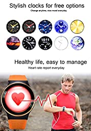 GearBest ZGPAX S99 Bluetooth 3G TPU Band Smartwatch with Pedometer Heart Rate for Android Support Sim-card (Silver)