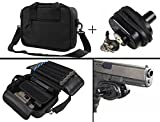 Smith & Wesson S&W 9mm .357, 38, .40, .45 Handgun Revolver Case Bag Holds 2 Pistols with 10 Single Double Stack Magazine Pockets + Secure Protective Key Trigger Block Lock
