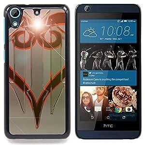 "Qstar Arte & diseño plástico duro Fundas Cover Cubre Hard Case Cover para HTC Desire 626 (Diseño tribal"")"