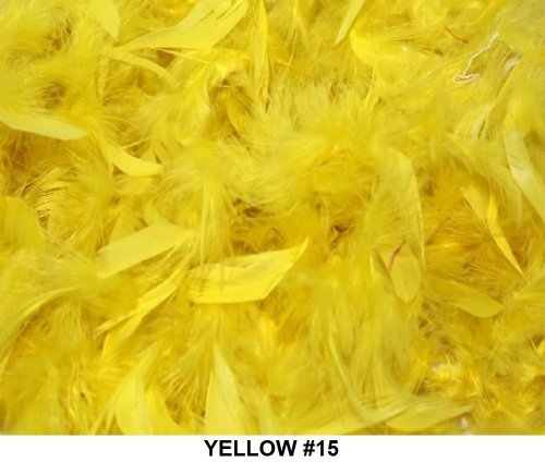 Cozy Glamour Solid Boas 6 Foot Long 50 Gram in a Variety of Shades Great for Parties, Crafts, and Fun! (Yellow #15) ()
