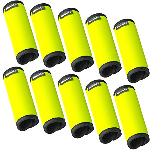 - Hibate Comfort Neoprene Luggage Handle Wrap Grip Tags - Fluorescent Yellow, Pack of 10