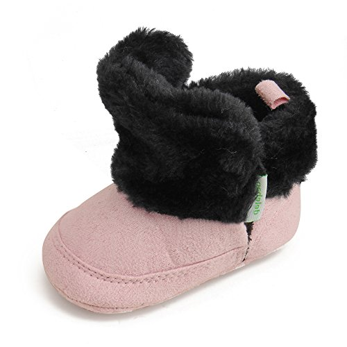 Delebao Baby Classic Soft Sole Winter Warm Snow Boots Prewalker Crib Shoes (0-6 Months, - Shoes Classic Crib