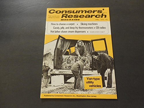(Consumers' Research Apr 1976 Van Type Utility Vehicles (Gasp))