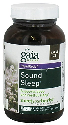Gaia Herbs, Sound Sleep Herbal formula, 120 Veggie Liq Caps