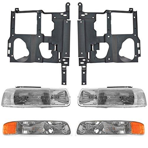 Headlight Parking Light Lamp Mounting Bracket Kit LH RH for 99-02 Chevy Truck