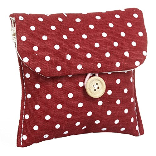 de Absorbentes bolso TOOGOO rojo Mujer R Puerta botones cierre con lunares SvrnS6