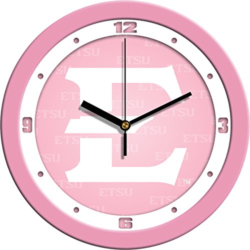 (SunTime NCAA East Tennessee State Buccaneers Wall Clock - Pink)
