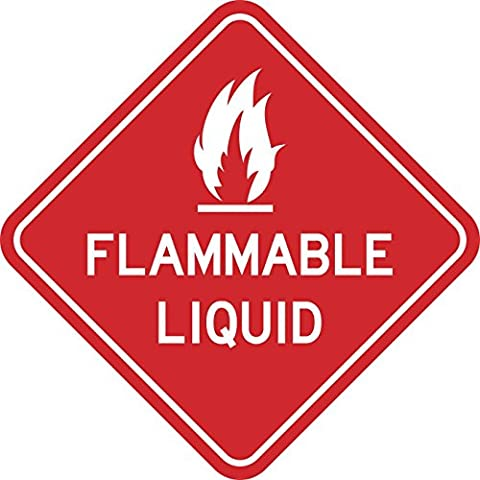 6in×6in Flammable Liquid Sticker Warning Decal Window Stickers Wall Decals