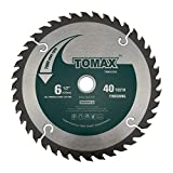 TOMAX 6-1/2-Inch 40 Tooth ATB Finishing Saw Blade with 5/8-Inch DMK Arbor