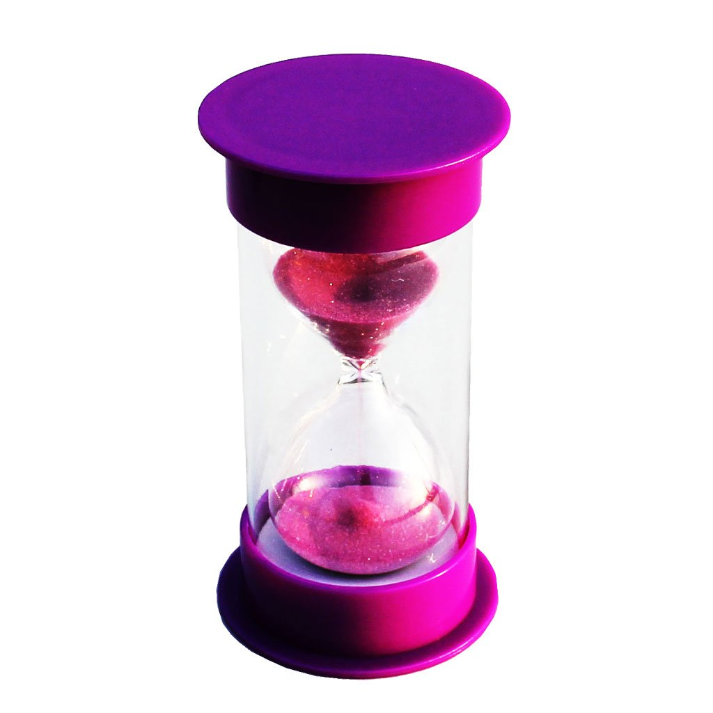 MagiDeal 15 Minutes Hourglass Timer Purple Lid & Sand STK0157001604