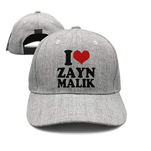 Rhdjhd Gray Unisex Adjustable Baseball Cap for Men/Women Music Cool Golf hat (Zayn Malik Calendar)