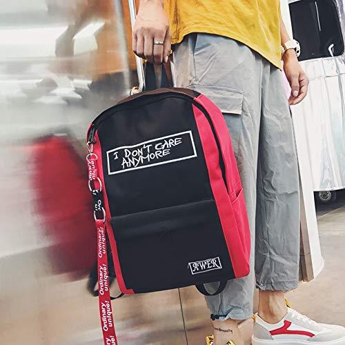 9e74f72f1b YZBB Borsa a spalla da uomo, zaino da da da uomo coreano, borsa da studente  giapponese Harold, stile port, borsa da viaggio, rosso e nero 6e2998