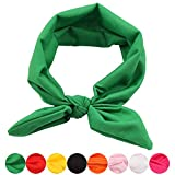 Women Headbands Turban Headwraps Criss Cross Hair Band Bows Accessories for Fashion Or Sport Vintage Modern Style Headwear (Green)