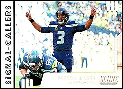 e54fc9373aee0 Amazon.com: 2019 Score NFL Signal Callers #27 Russell Wilson Seattle ...