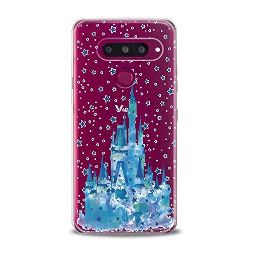 Lex Altern LG TPU Case Stylo 4 K11 G7 ThinQ G6 V40 V35 Plus V20 Q8 K8 Beauty and The Beast Clear Disney Silicone Belle Cute Cover Galaxy Print Pattern Princess Flexible Girly Women Transparent Gift -