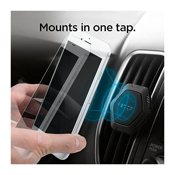 Spigen QS11 Quad Car Phone Mount Magnetic Air Vent Phone Holder | QNMP Compatible with Most Smartphones - Black 5