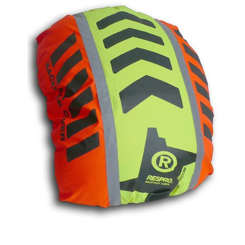 Respro Hi-Viz Hump Waterproof Rucsac Cover - Orange/Yellow, Oringinal 616
