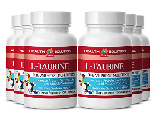 Pre workout taurine - L-TAURINE 500MG - support brain and nerve function (6 Bottles)