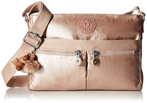 Kipling Women's Angie Solid Crossbody Bag (Bag Shoulder Vintage Metallic)