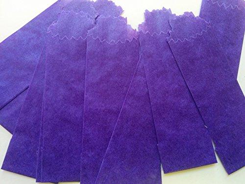 (Vellum Glassine Stamp Wax Paper Envelope Bags, Colors & Designs, Medium, 25mm/27mm (Purple, 100 Bags))