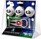 LinksWalker NCAA Georgia Bulldogs - 3 Ball Gift Pack with Hat Trick Divot Tool