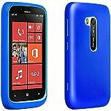Verizon Wireless High Gloss Silicone Cover for Nokia Lumia 822, Blue