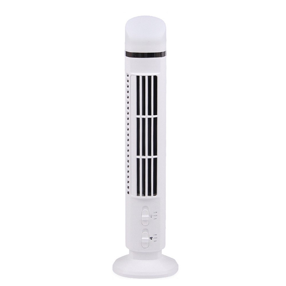 Mini Portable USB Cooling Air Conditioner Purifier Tower Bladeless Desk Fan Home