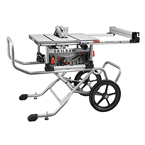 SKILSAW SPT99-11 10'' Heavy Duty Worm Drive Table Saw with Stand, Silver by SKILSAW