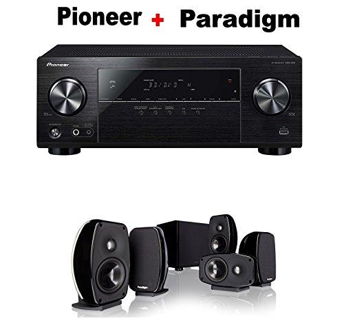 Pioneer-Surround-Sound-AV-Receiver-Black-VSX-532-Paradigm-Cinema-100-CT-51-Home-Theater-System-Bundle