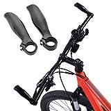 VGEBY 1 Pair Carbon Fiber Bicycle Handle Bar Ends Grips Matt Black