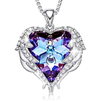 CDE Angel Wing Pendant Necklace White Gold Plated Women Jewelry Heart of Ocean Made with Swarovski Crystals Necklaces