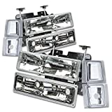 97 chevy hid headlight kit - Chevy C/K-Series 8-PC Lamps Headlight+Bumper+Corner Lights Kit (Chrome Housing) - GMT400 Facelifted