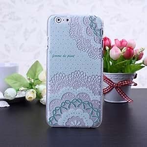 HC- estuche rígido de la flor y el arco patrón de litchi textura plástica para el iphone 6