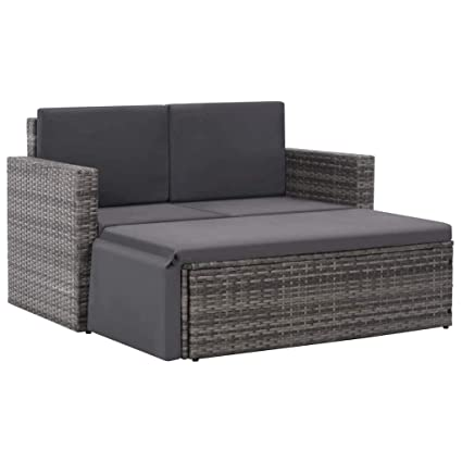 Amazon.com : Asmuse Outdoor Sofa Set 7 Pieces Poly Rattan ...