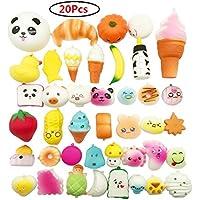 Random 20pcs Jumbo Medium Mini Slow Rising Kawaii Squishy Cake/Panda/Bread/Buns Phone Straps