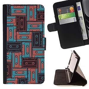 For Samsung ALPHA G850 Case , 90 Música Antigua del trullo del vintage Boom Sound- la tarjeta de Crédito Slots PU Funda de cuero Monedero caso cubierta de piel