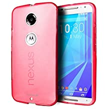 Fosmon® Google Nexus 6 Case (DURA-FRO) Slim-Fit Flexible TPU Case Cover for Google Nexus 6 - Fosmon Retail Packaging (Hot Pink)