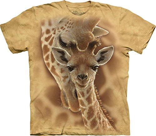 The Mountain Newborn Giraffe Child T-Shirt, Sand, Large