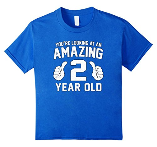 2 Year Costumes Funny Old (Kids Awesome 2nd Birthday Saying Shirt Funny 2 Year Old Boy Girl 6 Royal)