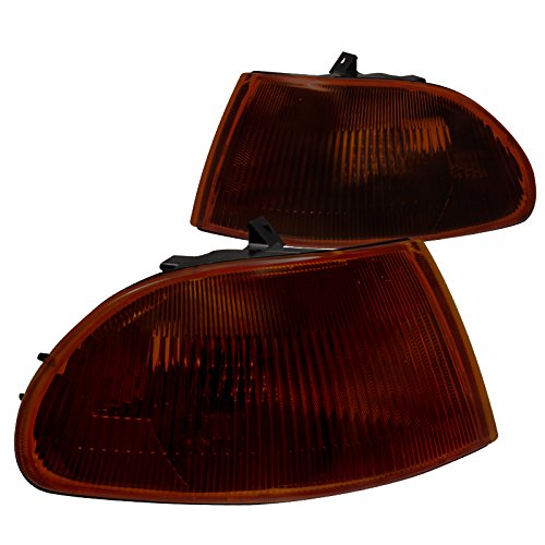 Spec-D Tuning LC-CV924GA-RS Honda Civic Dx Ex Lx 4Dr Signal Corner Lights Smoked Amber