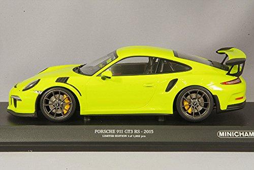 Minichamps - Porsche - 911/991 GT3 RS - 2013 Coche de ferrocarril de Collection, 155066222, Verde: Amazon.es: Juguetes y juegos
