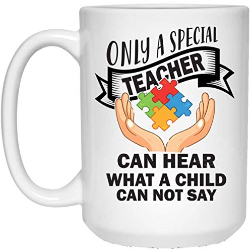 UMACVN Autism Awareness Mug Gift Women Teacher Special Education GiftCoffee Cup for Mother's Father's Day Gift