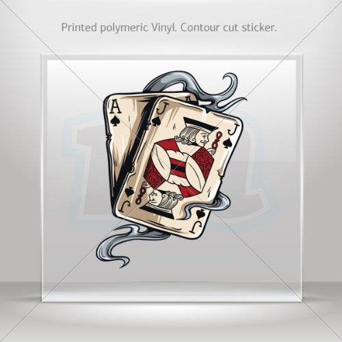 (Sticker Poker Racing Motorbikes Waterproof Racing Vehicle Tablet Laptop Durab (6 X 4.58 In))