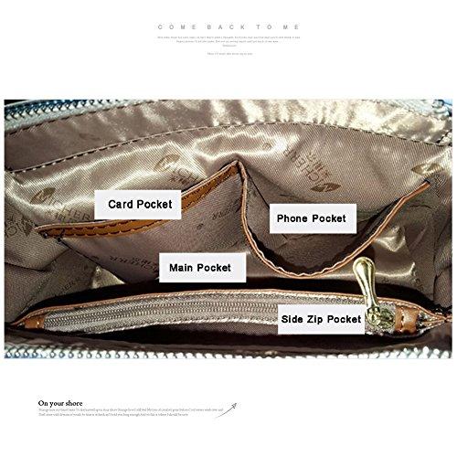 Yoome bolso de la aleta retro bolsa de hombro de patrón de patrón de la bolsa de bolsas pequeñas bolsas pequeñas para los regalos - la marina de guerra Armada