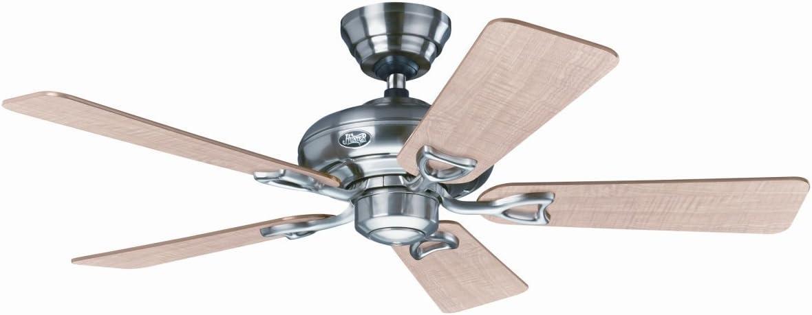 Hunter ventilador de techo Seville II - níquel cepillado