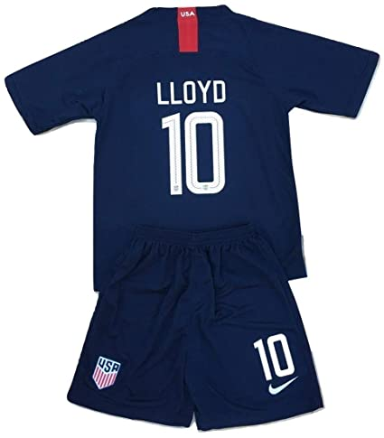 18f733a8d95 AllStarA 2018-2019 Carli Lloyd #10 New USA National Away Jersey and Shorts  for