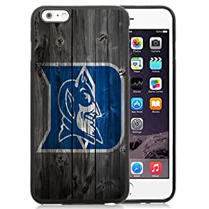 Customized Iphone 6 Plus Case with NCAA Atlantic Coast Conference ACC Footballl Duke Blue Devils 8 Protective Cell Phone TPU Cover Case for Iphone 6 Plus Generation 5.5 Inch Black by icecream design
